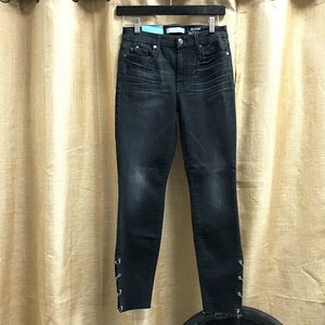AnkleSkinny W/ Metal Rings Jeans 7 For All Mankind